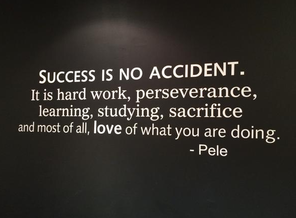 [Image] Success is no accident.