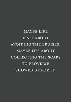 [Image] Maybe life is about the scars.