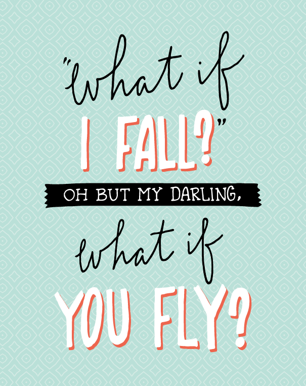 [Image] Don't be afraid to fall