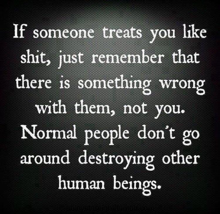 [image] Trust yourself to know what normal behaviour is.