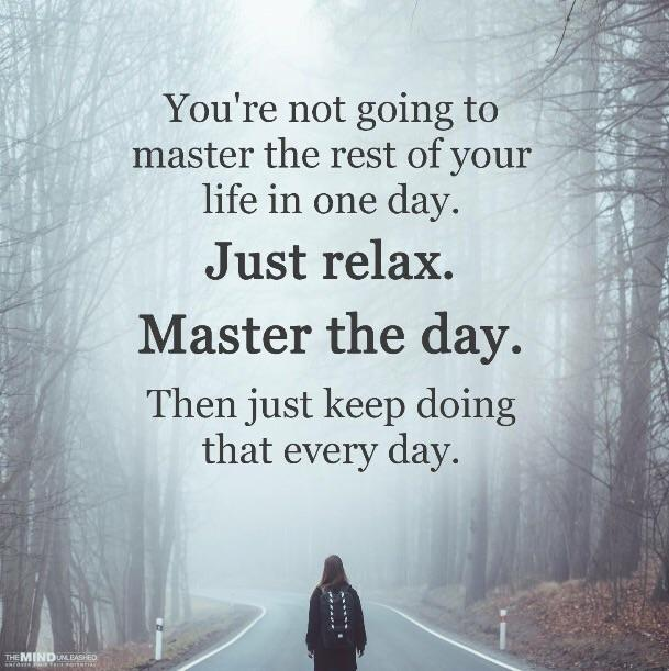 [image] Being present is something one has to choose to do. Something you wake up each day and strive for. Sometimes you win, sometimes you don't but there will always be a new day.