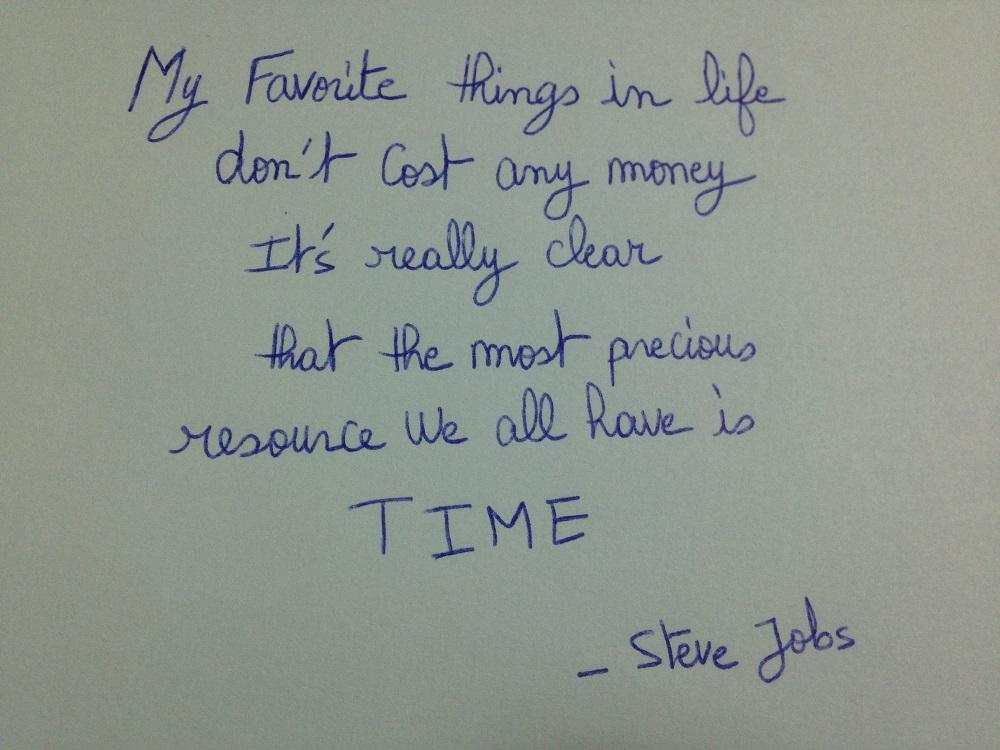 [Image] Precious Time – Steve Jobs