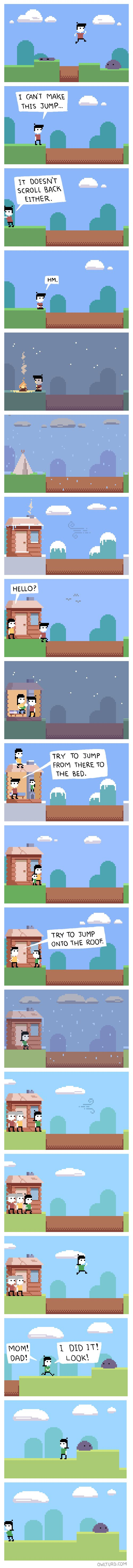 [Image] Strangely Motivating… Scroll Back [X-Post R/Gaming]