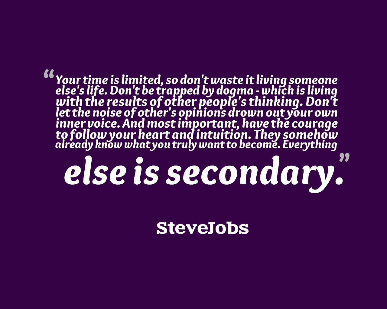 [Image] 'Everything else is secondary'