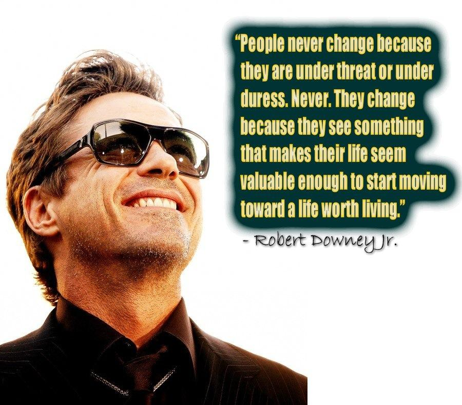 Wise Words From Robert Downey Jr. [Image]