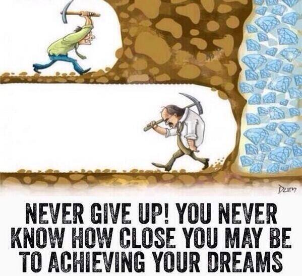 [Image] Never Give up!