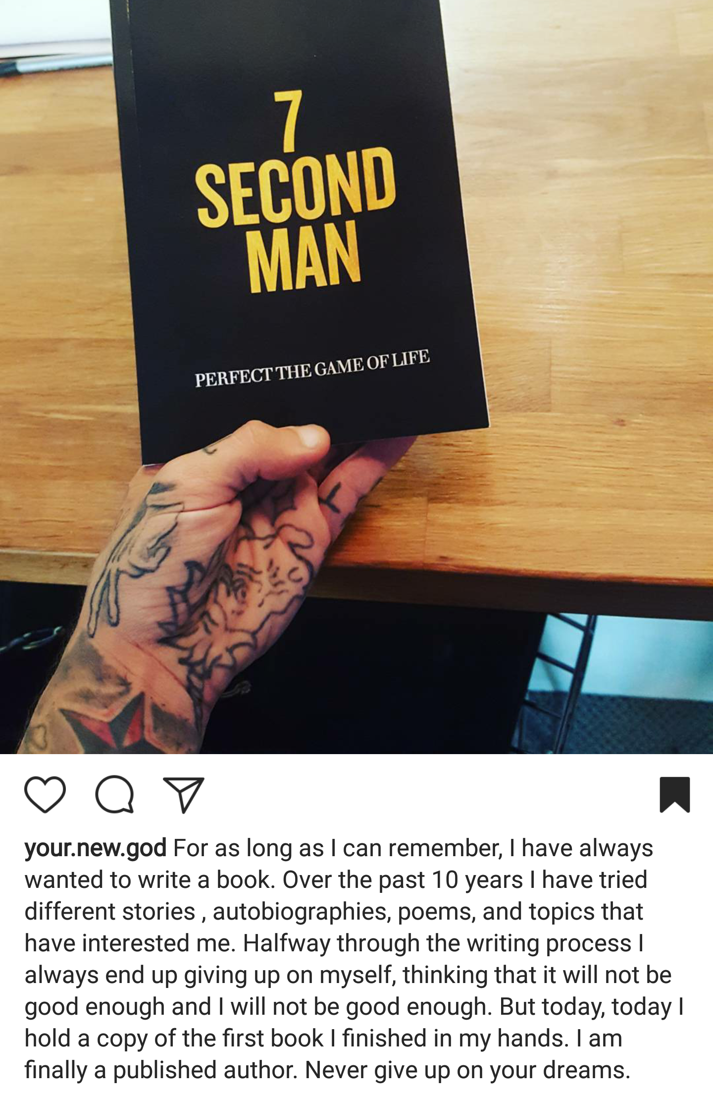 [Image] I published my first book this week