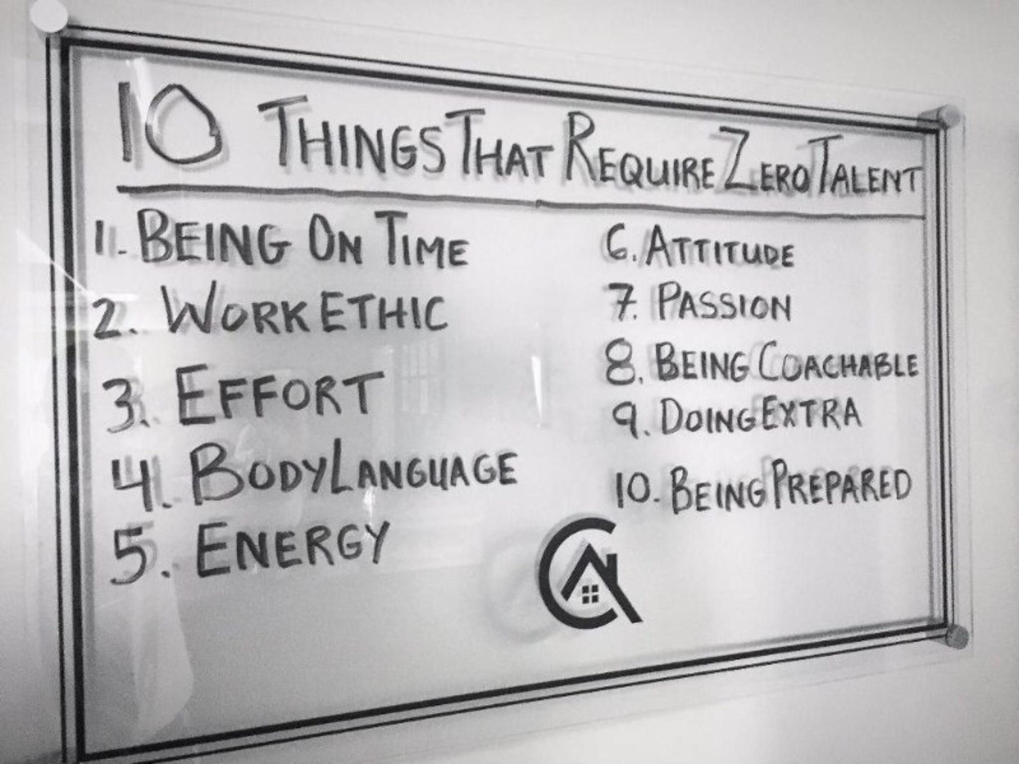 [Image] 10 Things that require no Talent