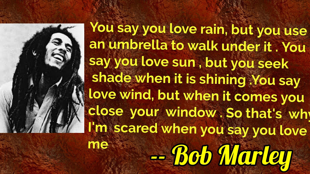 [Image] Love according to Bob Marley .