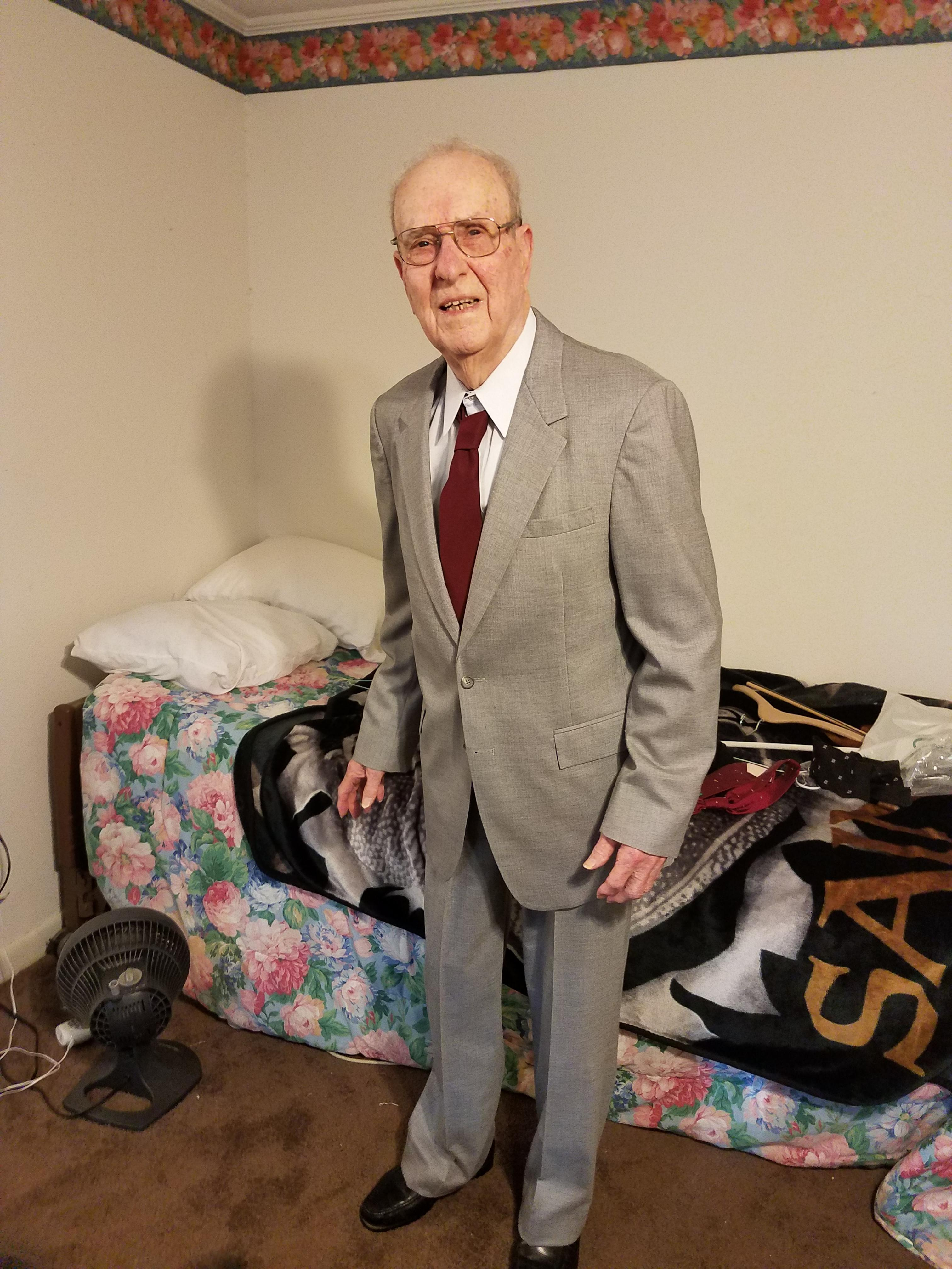 [Image] This is my 92 year old Great Grandfather. I've been his primary caregiver for 3 years now. He was diagnosed with dementia and Alzheimer's 10 years ago. If he can smile, so can you.