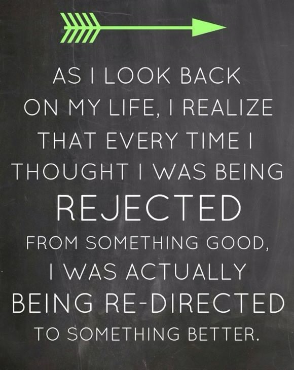 "[Image] ""I was actually being redirected to something better."""