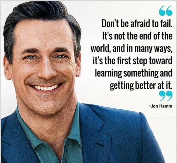 Wise words from Jon Hamm. [Image]