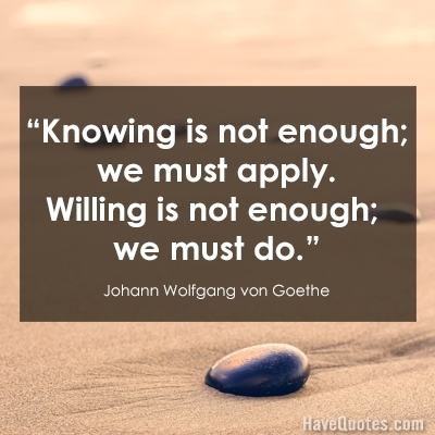 [image] Goethe on knowledge and will