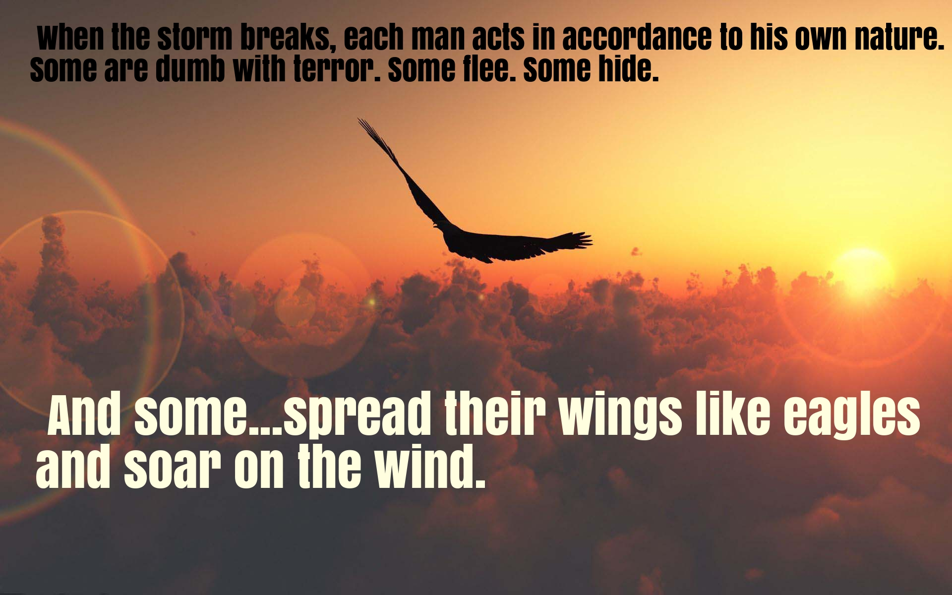 [Image] Spread your wings like eagles