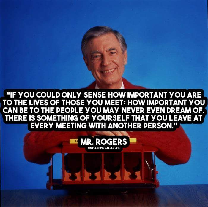 [Image] Sage advice from Mr Rogers.
