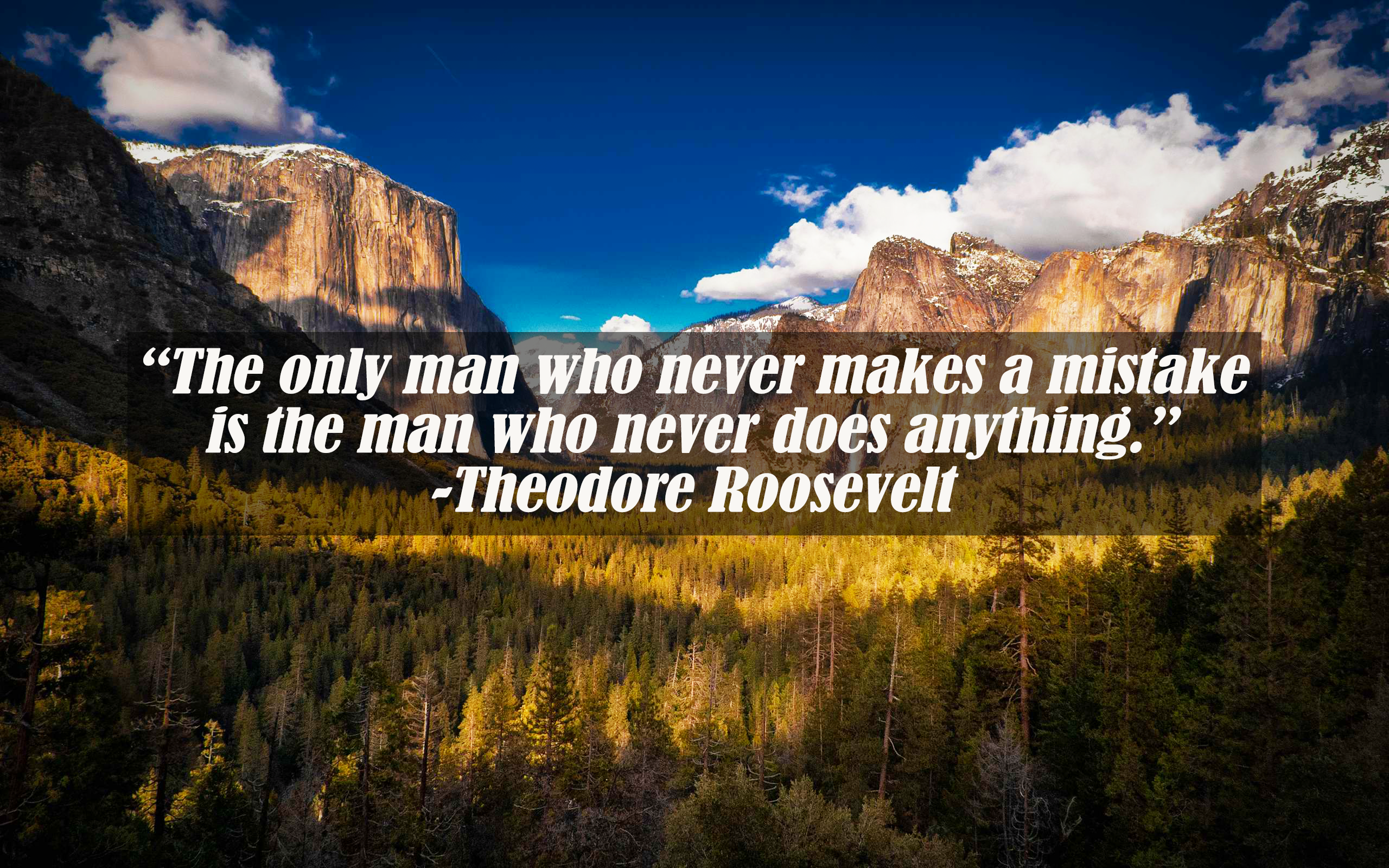 [Image] A motto from Theodore Roosevelt on overcoming failure