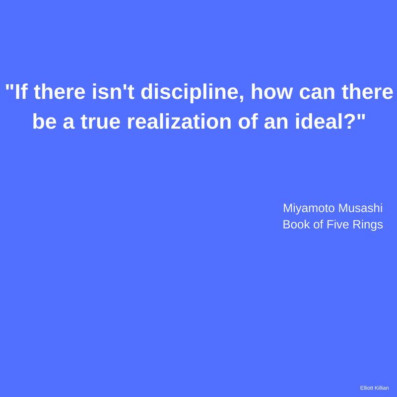 Miyamoto Musashi: Discipline Quote [Image]