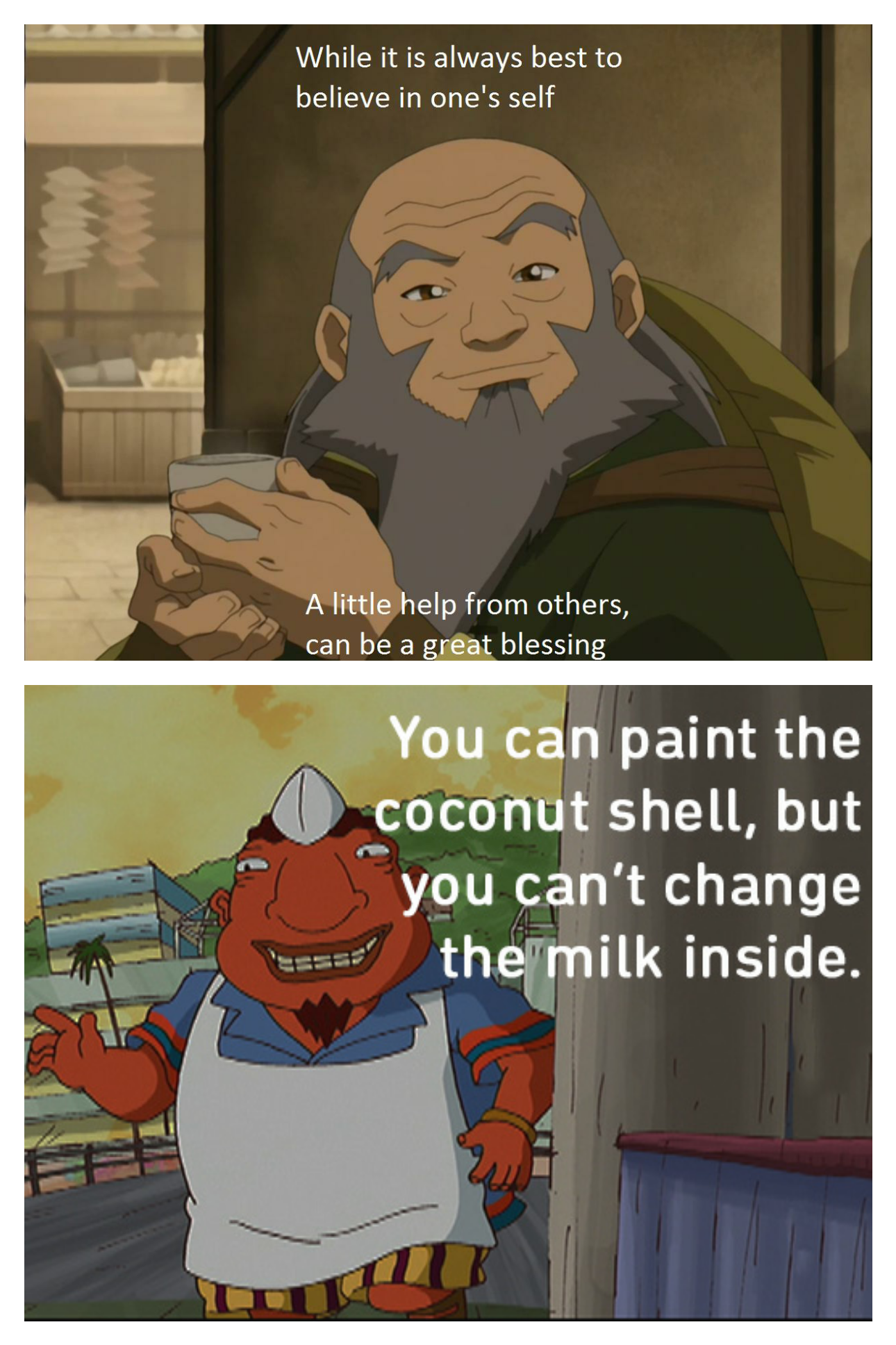 [Image] Two great mentors from mine/possibly your childhood, Uncle Iroh & Uncle Tito