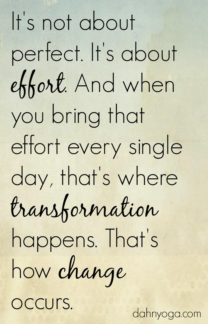 [Image] It's about effort