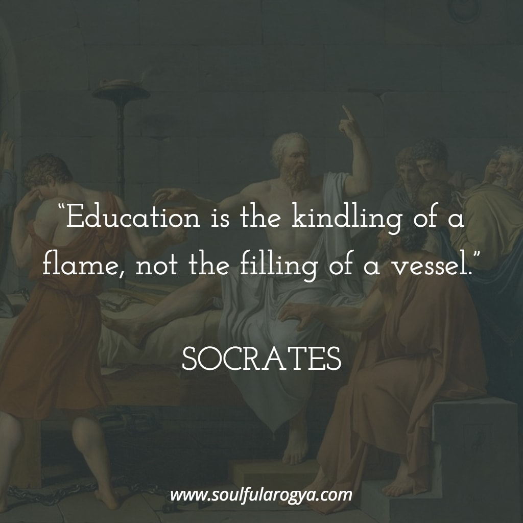 "[Image] ""Education is the kindling of a flame…"" – Socrates"