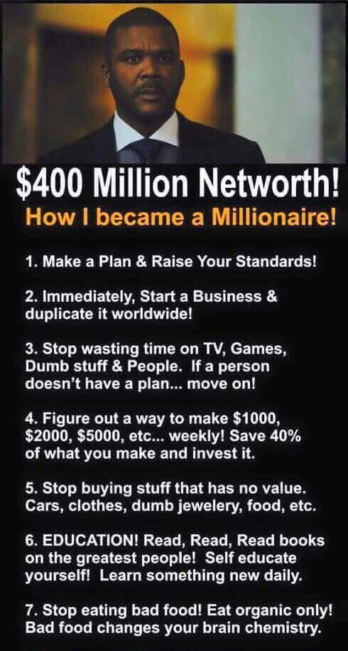 [Image] How this man became a millionaire!