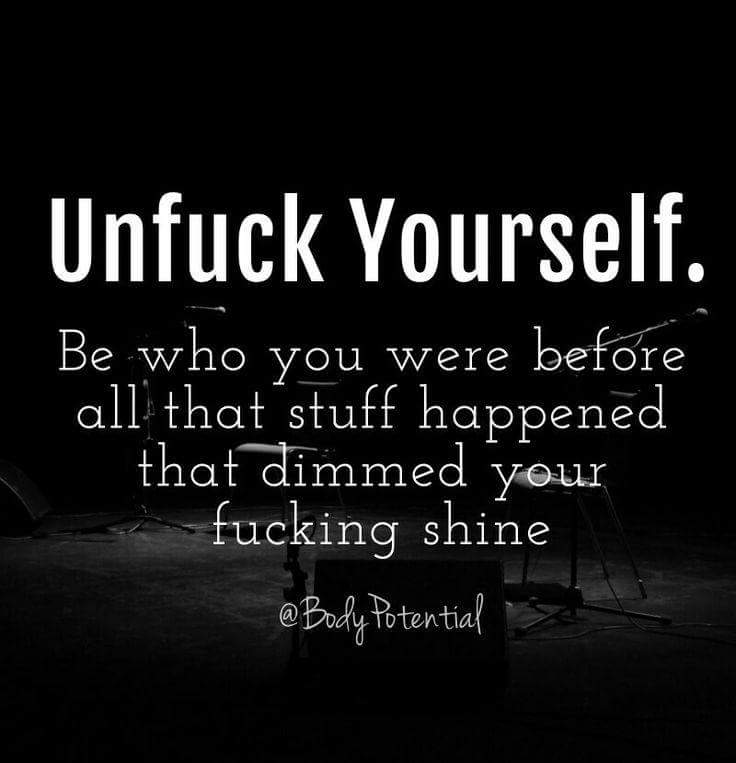 [Image] Be who you were before.