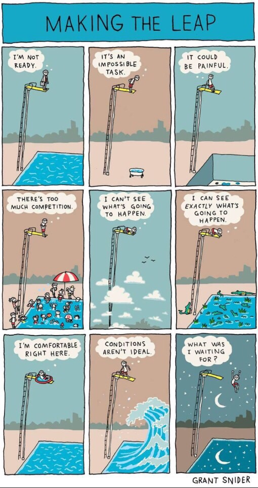[Image] Take the leap!
