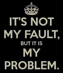 [image] it's not my fault, but it's my problem.
