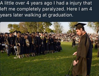 [Image] One of the graduating seniors from my school. Don't give up no matter what life throws at you!