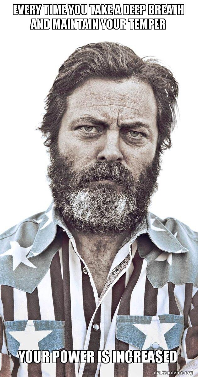[Image] Nick Offerman Life Advice