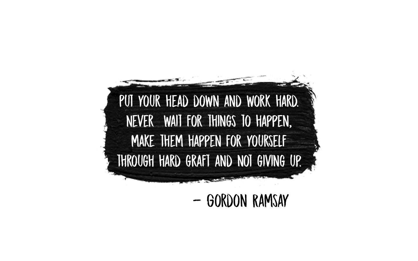 Never wait for things to happen [image]