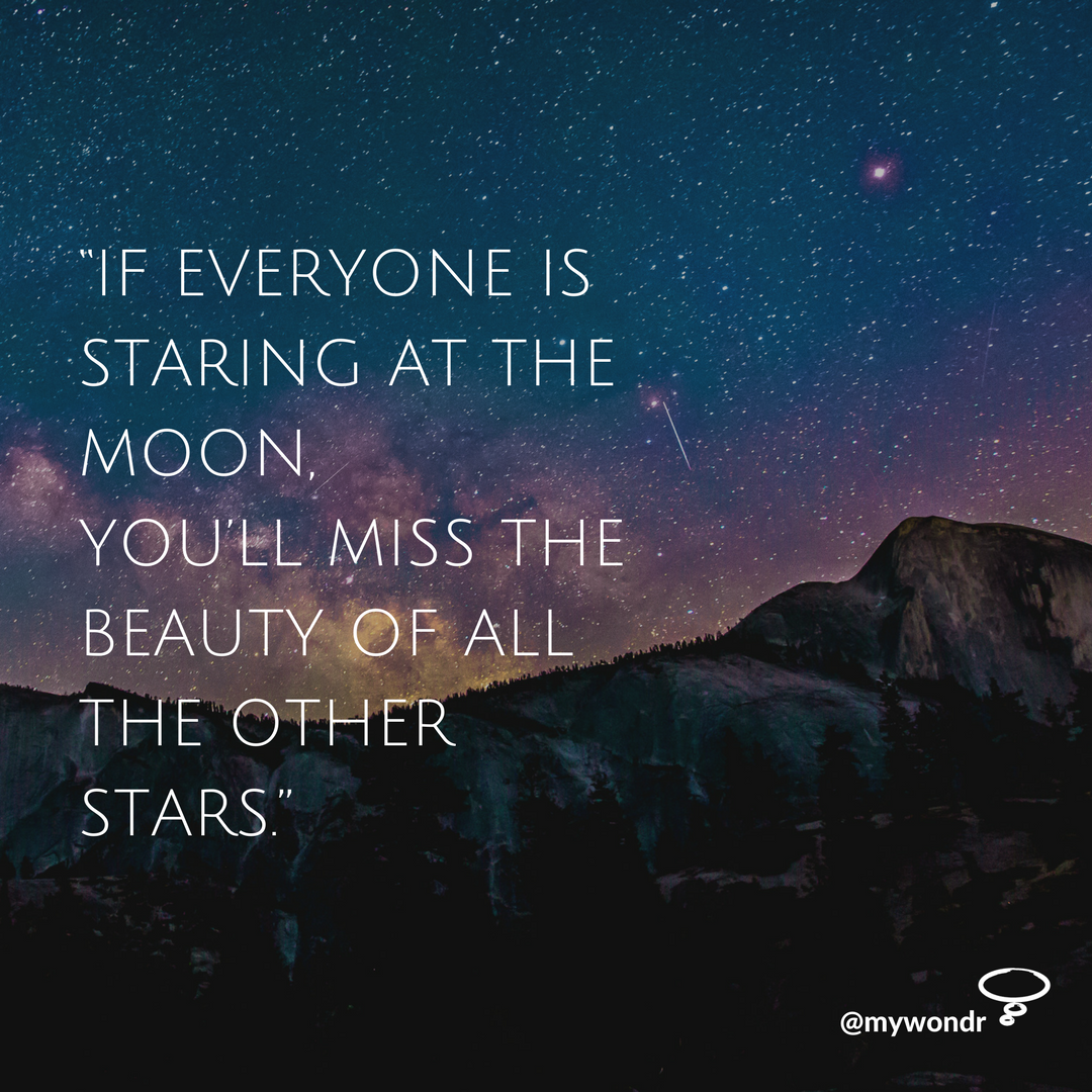 [Image] If Everyone Is Staring At The Moon, You'll Miss The Beauty Of All The Other Stars.