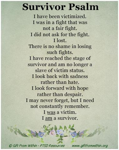 [Image] In Honor of PTSD Awareness Day: The Survivor Psalm