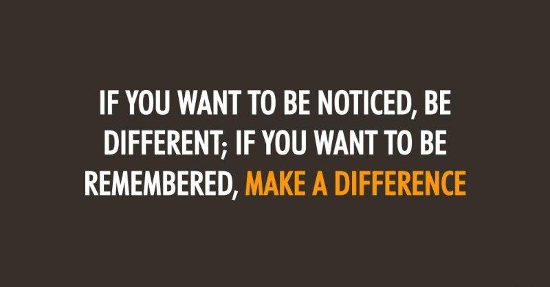 [IMAGE] If You Want To Be Remembered…