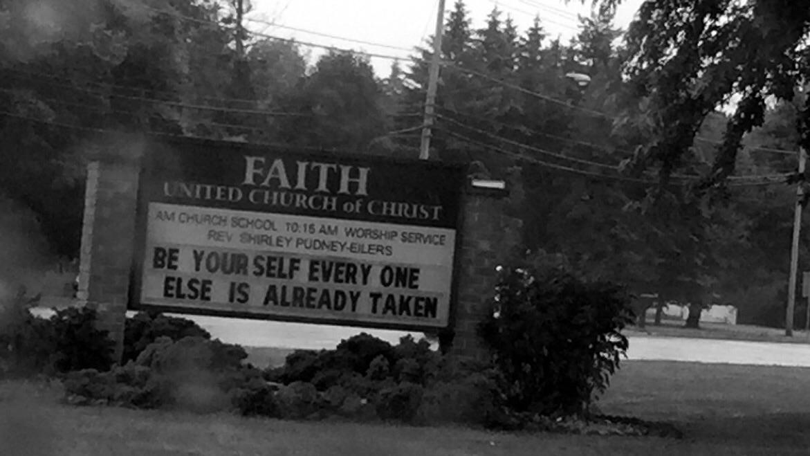 [image] Saw this at a local church; felt motivated.