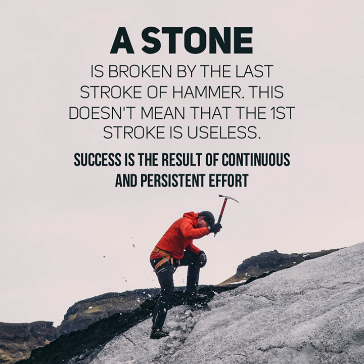 [Image] Success comes from perseverance
