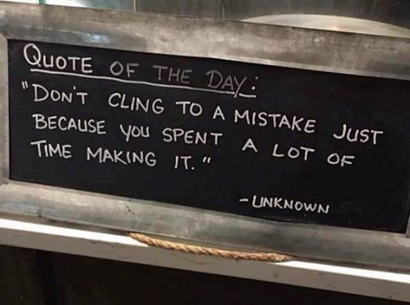 [image] Don't cling to past mistakes
