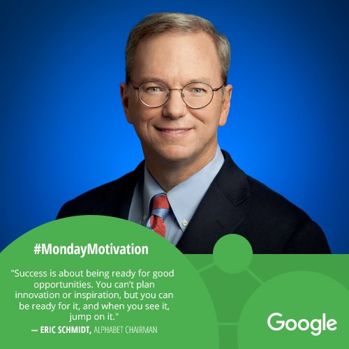 [Image] Eric Schmidt on what success is about