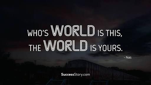 [image] who's world is this