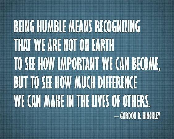 [image] Be Humble