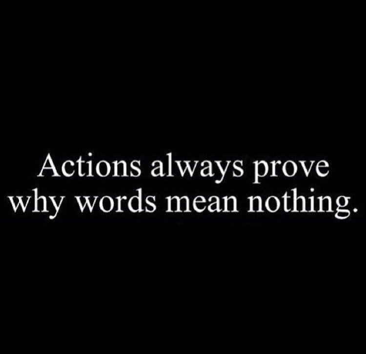 [Image] Actions vs Words