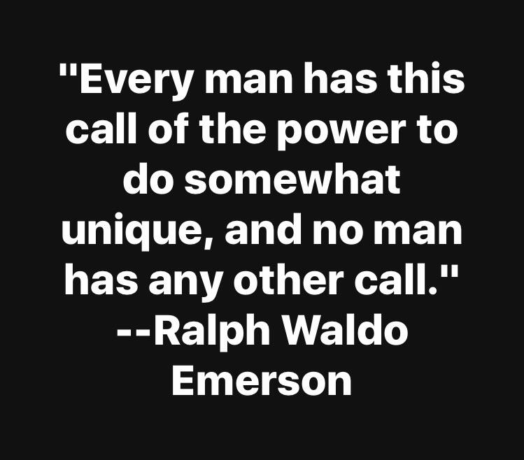 [Image] No man has any other call.