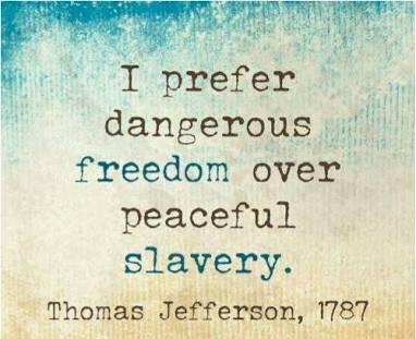 [Image] Prefer Dangerous Freedom