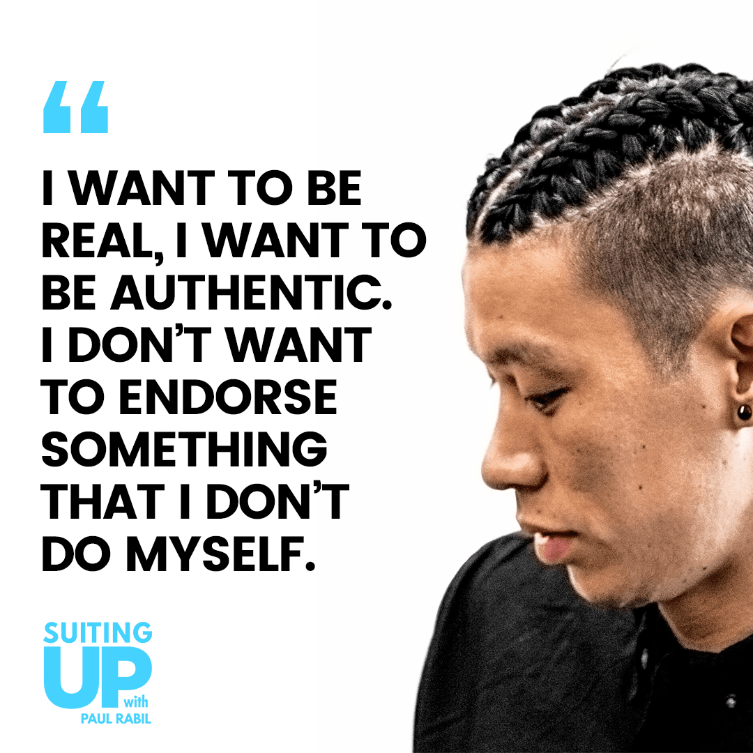 "[image] Jeremy Lin, ""I want to be real, I want to be authentic. I don't want to endorse something that I dont do myself."""