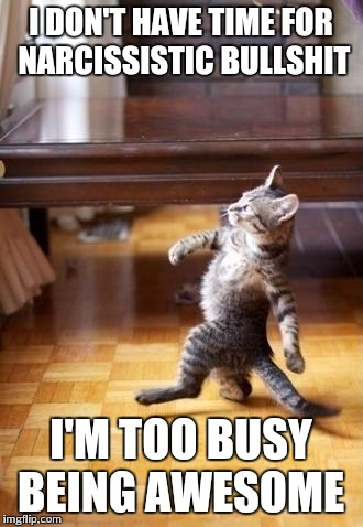 [Image] Walk away, and be like this awesome kitty!