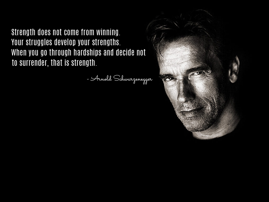 [Image] Strength does not come from winning…