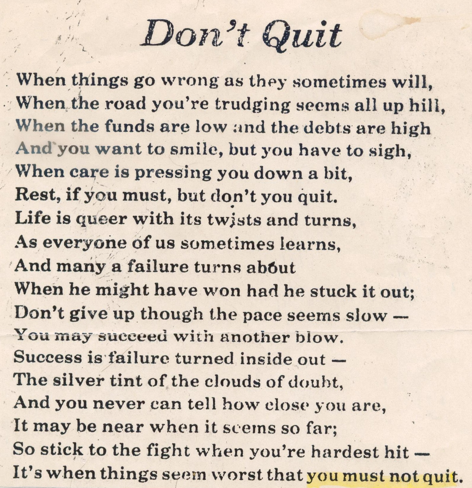 [IMAGE] Read this poem out loud when doubt hits