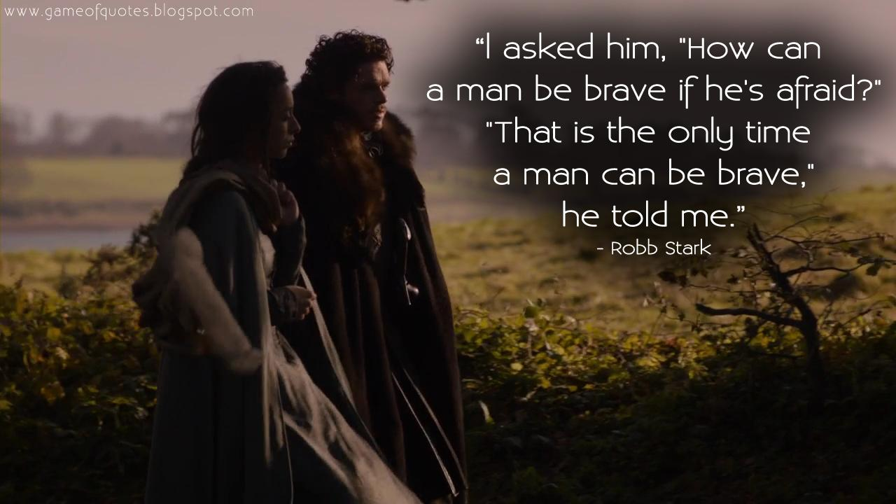 "[Image] I asked him, ""how can a man be brave if he's Afraid?"""
