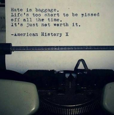 [Image] Hate is baggage.