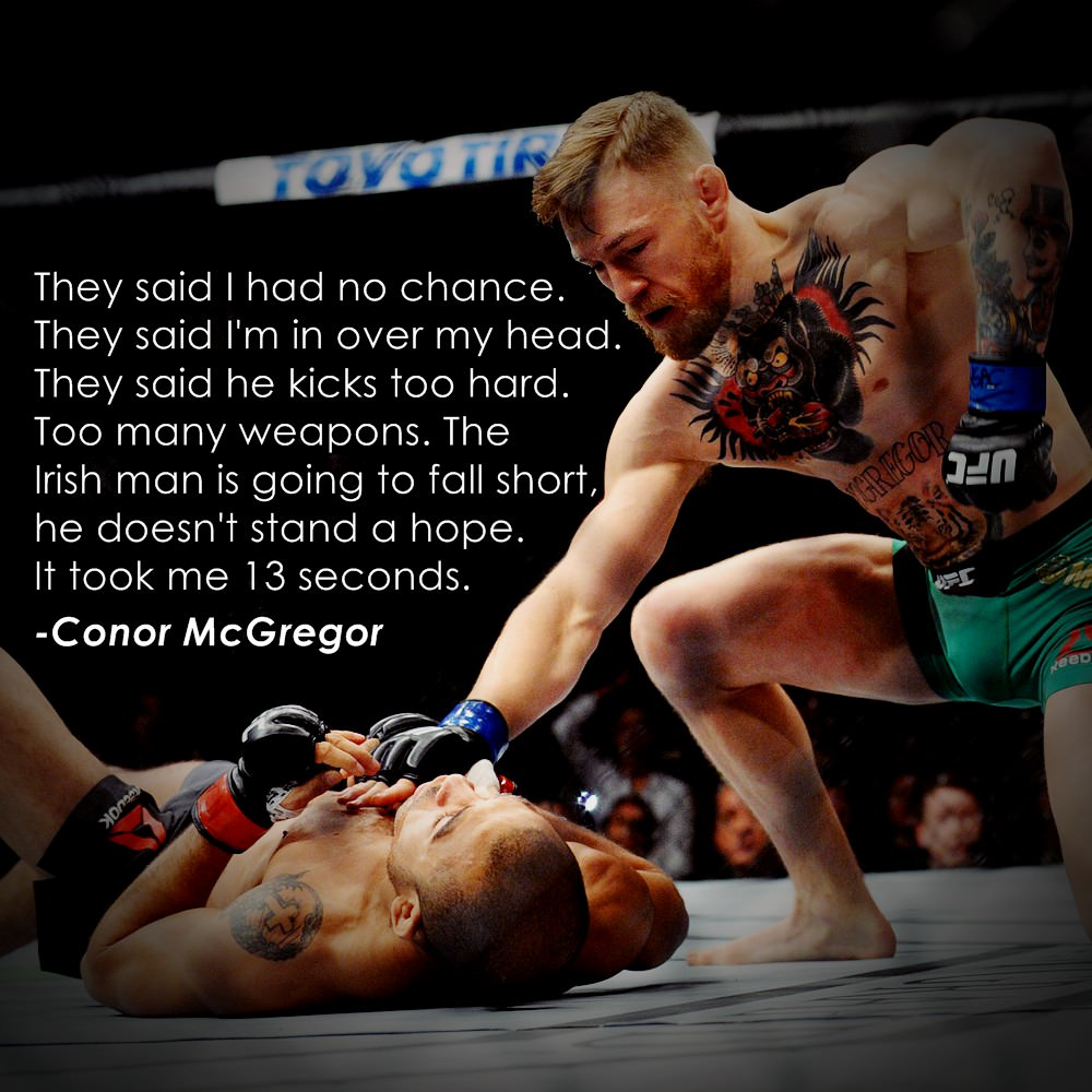 [Image] Conor McGregor on his victory against José Aldo